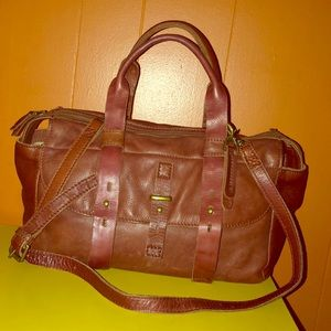 Lucky Brand Brown Leather Satchel Bag